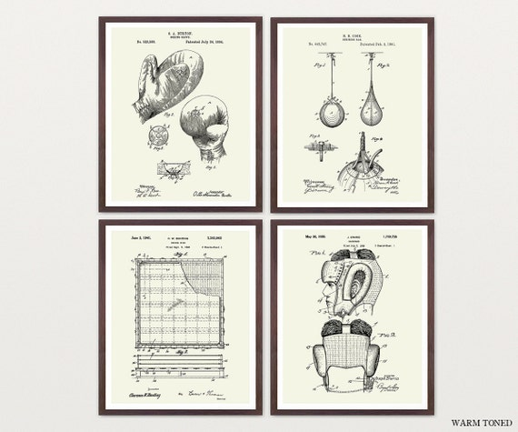 Boxing Patent Art - Boxing Poster - Boxing Art - Boxing Wall Art - Boxer - Boxing Glove - Boxing Ring - Fighting - MMA - Sparring - Box