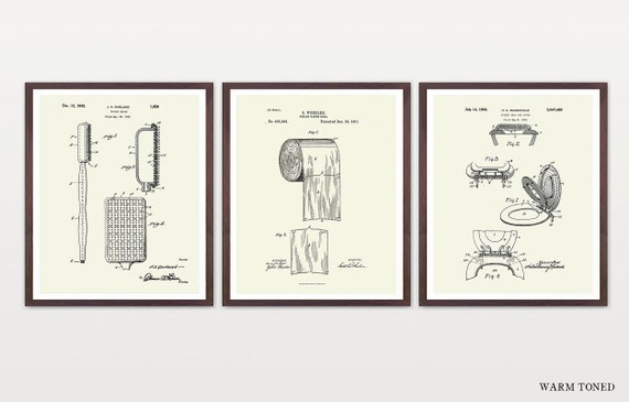 Toilet Inventions - Toilet Patent - Toilet Paper - Toilet Paper Patent - Bathroom Patent - Bathroom Poster - Toilet Poster - Bathroom Art