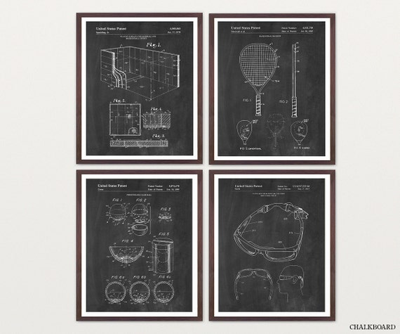 Racquetball Art - Racquetball Patent - Racquetball Poster - Racquetball Wall Art - Racquetball Patent Poster - Racquetball Decor - Racquet