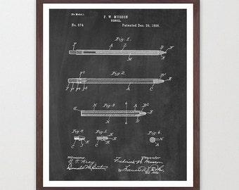 Pencil - Pencil Poster - Pencil Patent - Writer - Writing Poster - Writers Poster - Literary Poster - Graphic Design - Design Poster - Stilo