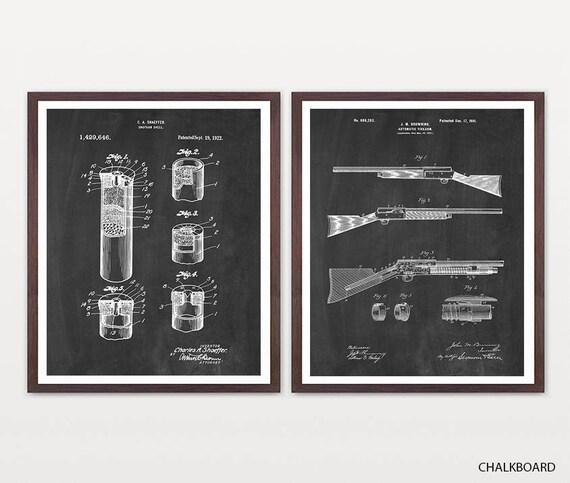 Shotgun Art, Shotgun Shell Patent, Shotgun Patent, Gun Art, Gun Decor, Hunting Art, Hunting Patent, Shotgun Poster, Shotgun Gift, Gun Gift