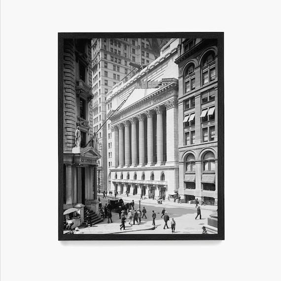 New York Stock Exchange Photograph, Wall Street Poster, Wall Street Art, Vintage New York, Finance, Financial District, Poster, Stock Broker
