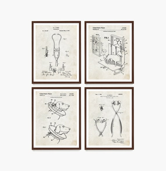 Veterinarian Patent Wall Art, Veterinarian Office Decor, Vet Gift, Vet Office Art