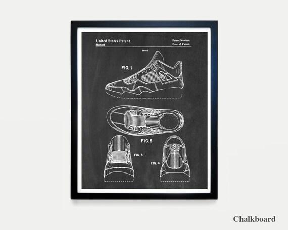 Nike Air Jordan 4 - Nike Shoes - Nike Sneakers - Air Jordans - Air Jordan Patent - Nike Patent - Nike Poster - Nike Art - Sneaker Art - Shoe