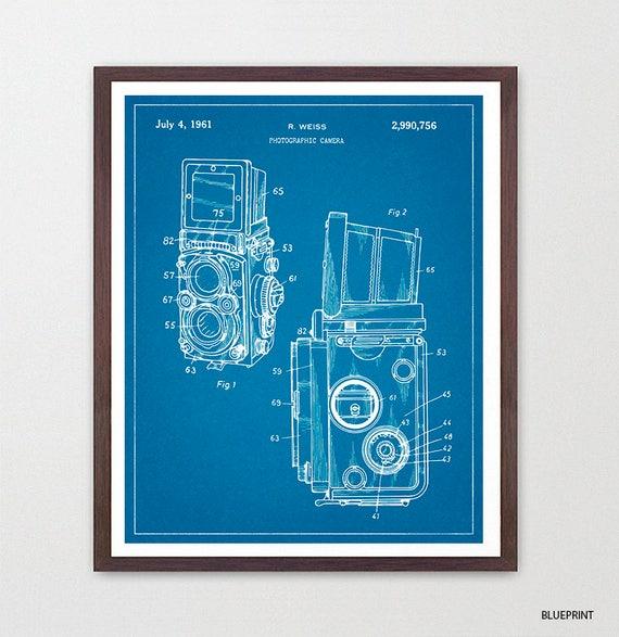 Camera Poster - Camera Art - Photography Poster - Rolleiflex - Patent Print - Patent Poster - Photo - Medium Format  Rolli - Canvas Wall Art