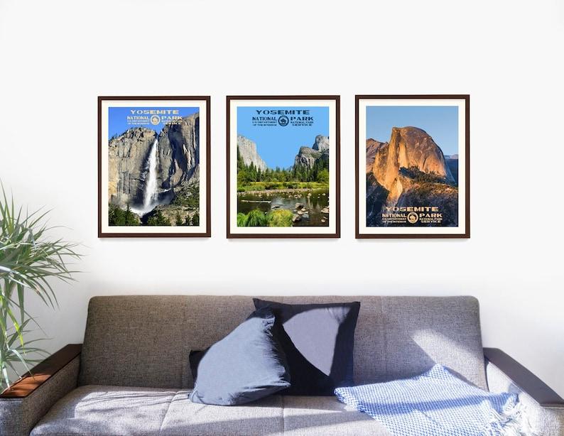 Yosemite National Park Poster National Park Wall Art WPA image 0