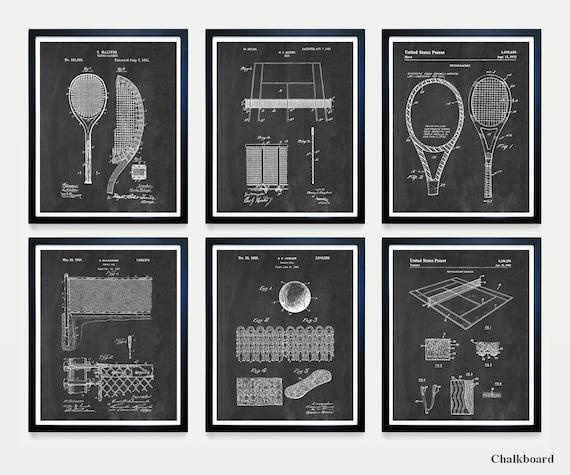 Tennis Patent Art - Tennis Poster - Tennis Wall Art - Tennis Print - Tennis racket Patent - Tennis Ball - Vintage Tennis - Tennis Art - Rafa