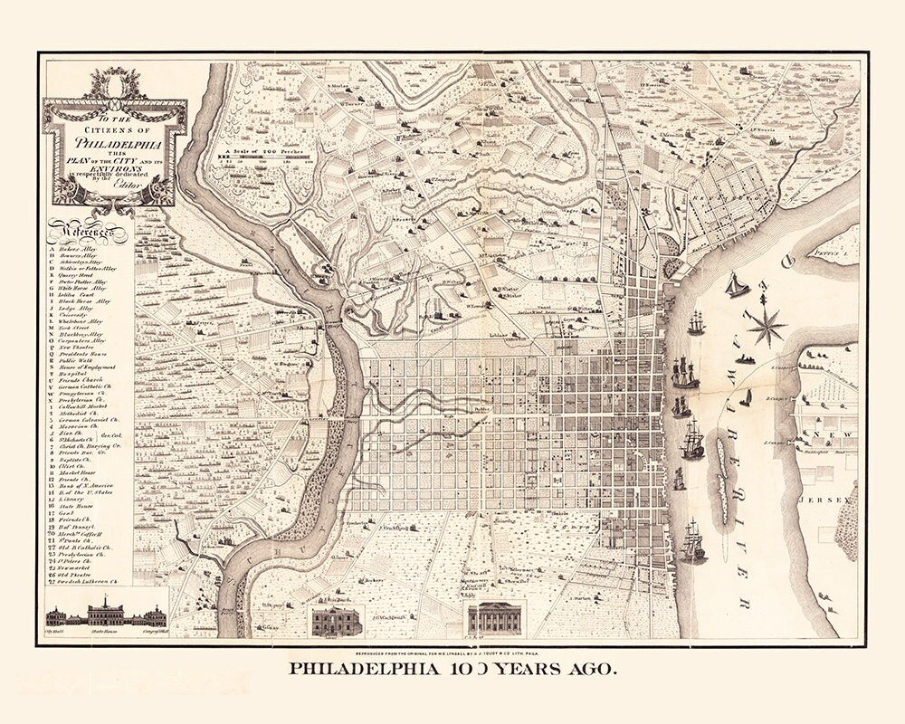 It is a picture of Printable Maps of Philadelphia for old city map