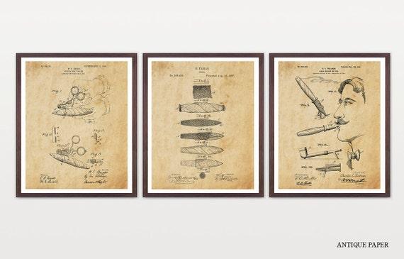 Cigar Cigar Patent Art Cigar Decor Cigars Cigar Wall