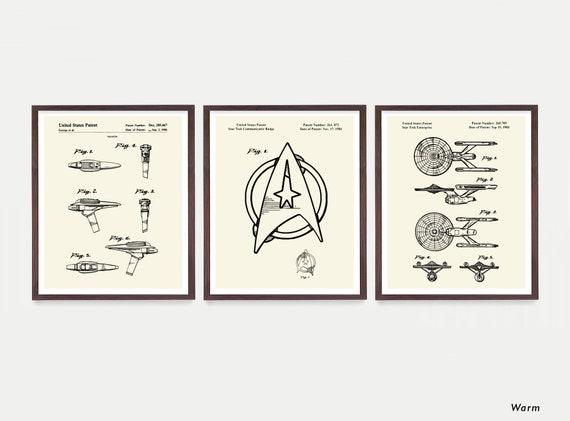 Star Trek Patent  Star Trek Art - Star Trek Enterprise - Star Trek Poster - Star Trek Wall Art - Sci Fi Art - Star Trek Gift - Sci Fi Poster