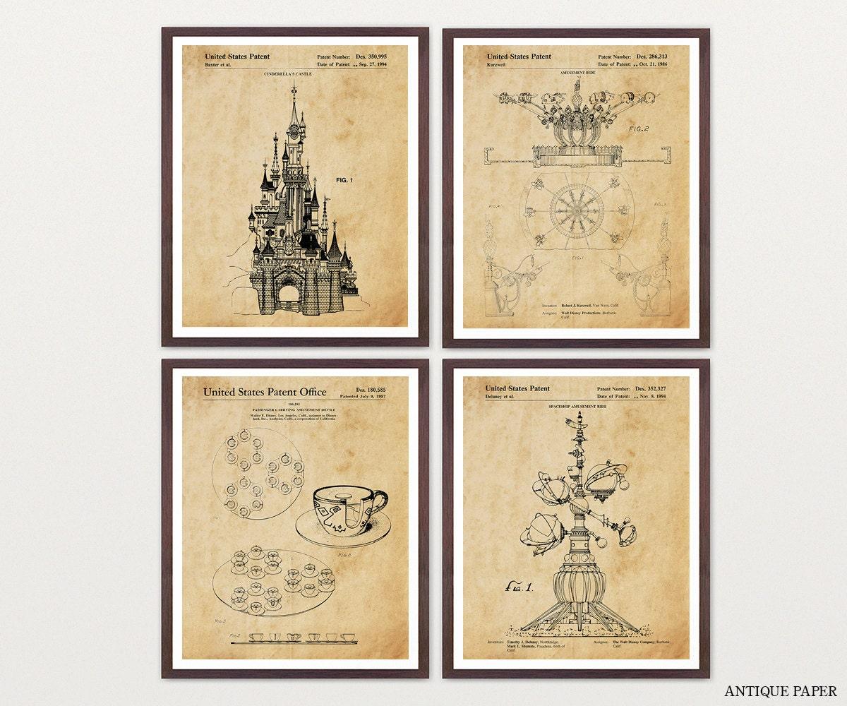 Disneyland - Disneyland Art - Disneyland Patent - Walt Disney ...