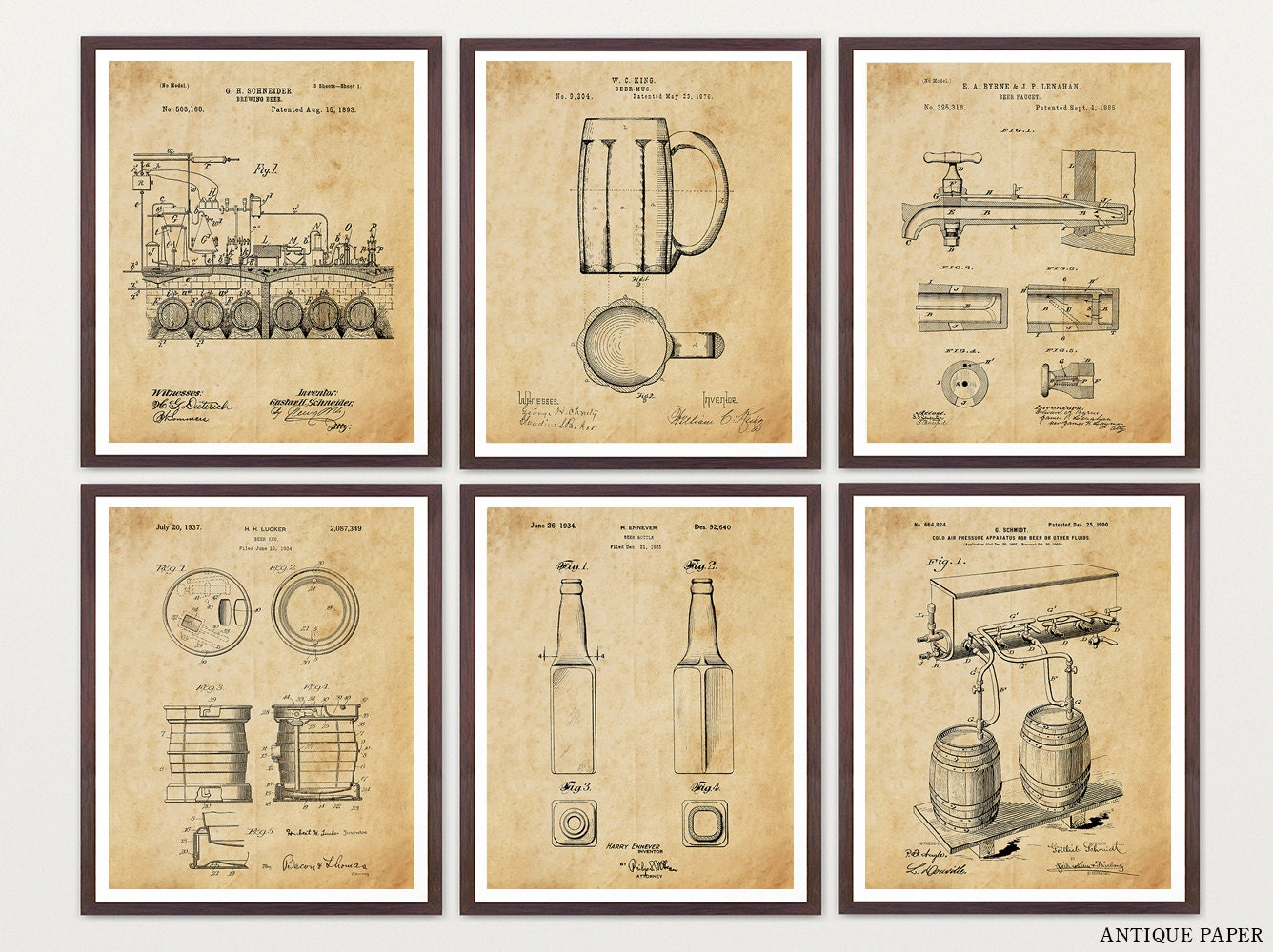 BEER PATENT ART - Beer Patent - Beer Poster - Beer Brewing - Beer ...