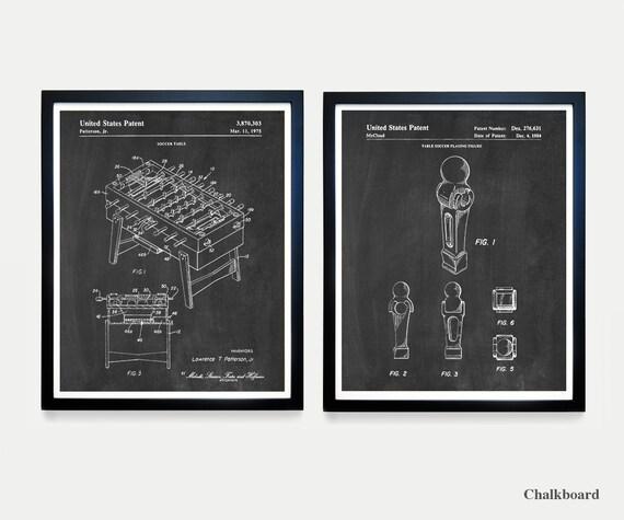 Foosball Patent Art - Foosball Poster - Foosball Art - Foosball Wall Art - Basement Art - Soccer Art - Soccer Wall Art - Basement Poster