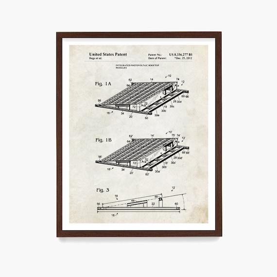 Solar Panel Patent Poster, Solar Panel Art, Solar Power, Green Energy, Renewable Energy Art, Electricity, Solar Art, Solar Poster