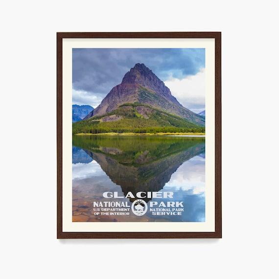 Glacier National Park Poster, Glacier National Park, National Park Art, WPA, WPA Poster, WPA Art, National Park Wall Art, Camping Art