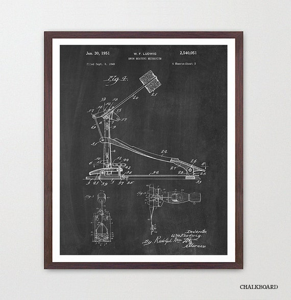 Drum Kick - Drum Poster - Drum Art - Drummer - Drumming - Percussion - Marching Band - Music - Music Art - Musical Poster - Drum Patent Art