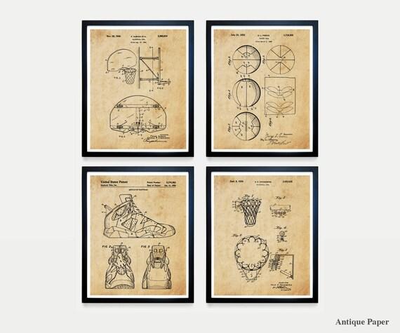 Basketball Poster - Basketball Patent Art - Basketball - Basketball Hoop - Basketball Wall Art  Air Jordan - Nike Patent - Basketball Poster