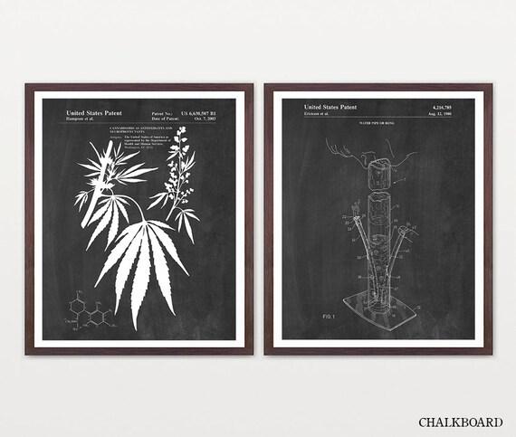 Cannabis Patent Art - Marijuana Art - Marijuana Patent - Bong Art - Bong Patent - Bong Poster - Weed Art - Weed Patent - Pot Plant - Pipe