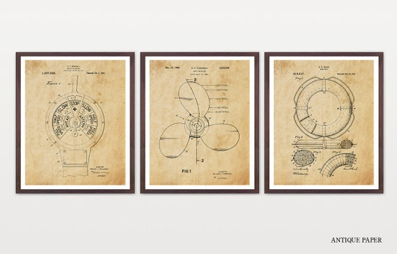 Ship Patent Art - Maritime Poster - Mariner - Boat Art - Boat Patent - Boat Poster - Maritime Art - Life Preserver - Cruise Ship - Steam