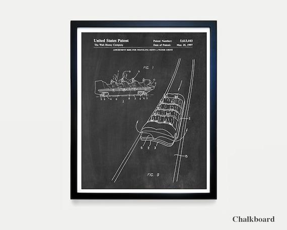 Disneyland Patent - Disneyland Patent Art - Splash Mountain Poster - Disneyland - Disney World Art - Walt Disney - Disneyland Poster