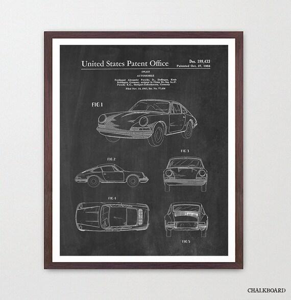 Porsche - Porsche Patent - Porsche Patent Print - Classic Cars - Car Patent - Carrera - Porsche 904 - Carrera Patent - Porsche Art - Car Art