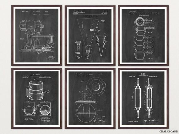 Baking Patent Poster - Baking Art - Baker - Baking Poster - Kitchen Poster - Kitchen Patent - Kitchen Art - Kitchen Wall Art - Cooking Art