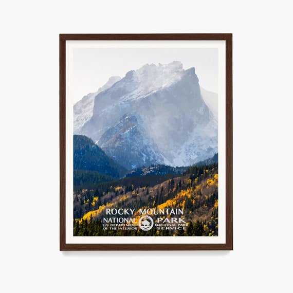 Rocky Mountain National Park Poster, Rocky Mountain National Park Poster, National Park Art, WPA, WPA Poster, WPA Art, Rocky Mountains