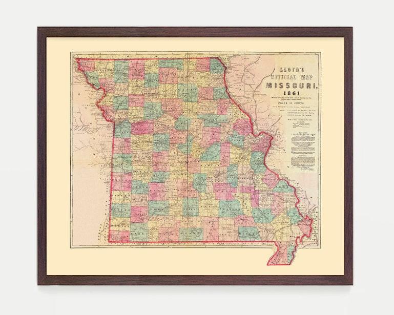 St Louis State Map.Missouri Map Missouri Art Missouri Poster St Louis State Map