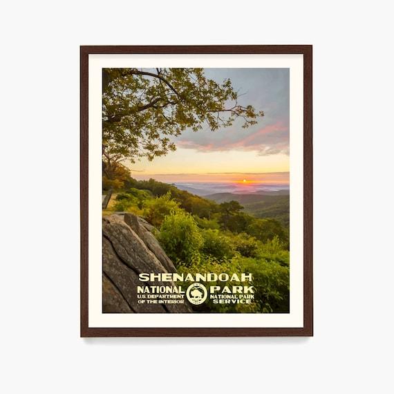Shenandoah National Park Poster, Shenandoah National Park, National Park Art, Nature Wall Art, WPA Poster, Appalachian Trail, Virginia
