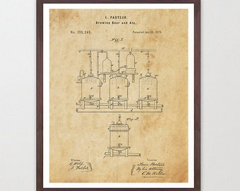 Beer Brewing Poster - Beer - Beer Brewing Patent Print - Brewing - Patent Print - Patent Poster