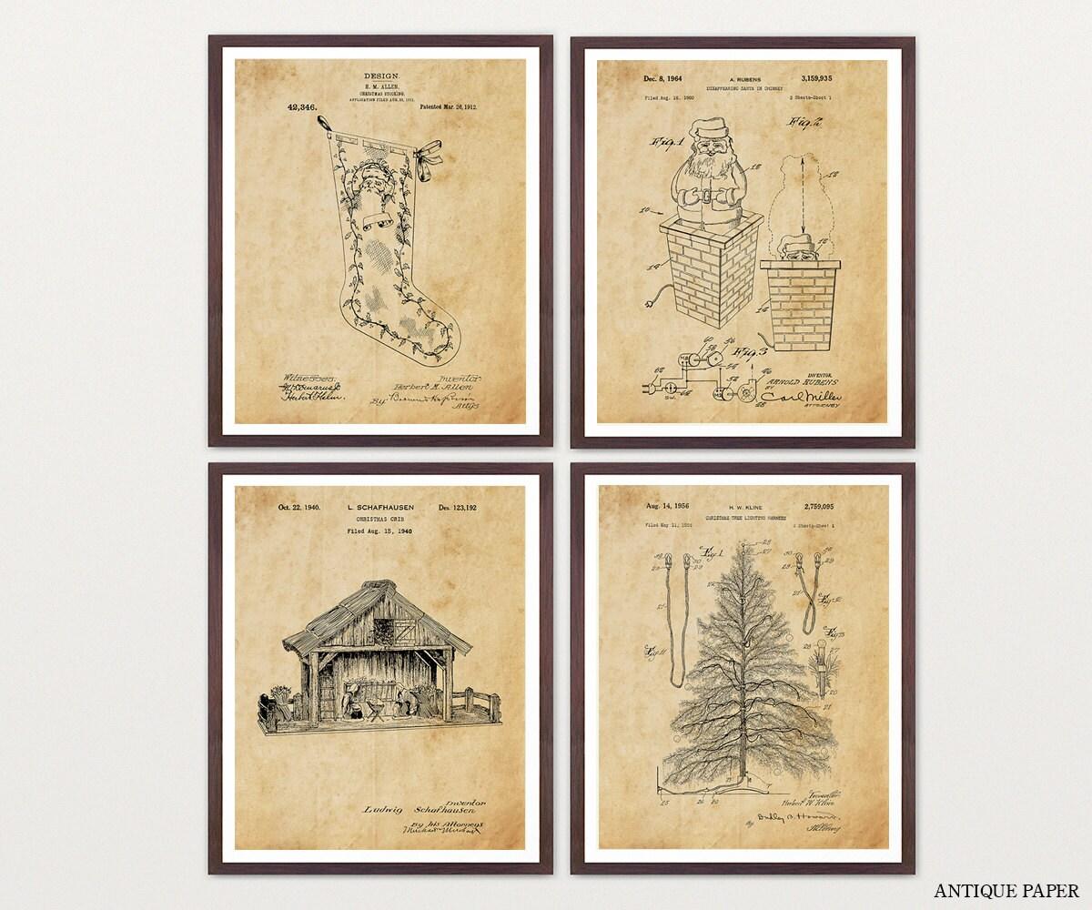 Christmas Art - Christmas Wall Art - Christmas Patent - Christmas ...