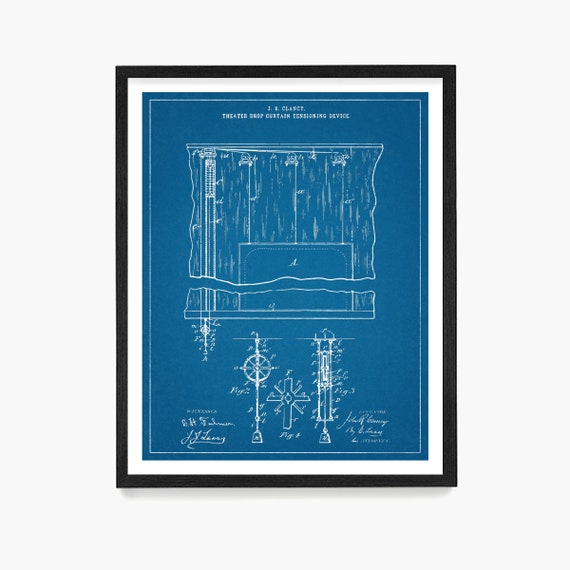 Musical Theater Poster, Theater Curtain Patent, Theater Art, Theater Decor, Broadway, Broadway Musical, Playbill, Actor, Actress