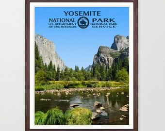 Yosemite National Park - Yosemite Poster - Yosemite National Park Art - National Park Poster - WPA - WPA Poster  WPA Art - Half Dome Poster