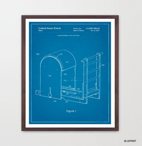 Pilates Chair Patent Art - Pilates Poster - Pilates Decor - Pilates Studio - Exercise - Exercise Poster - Exercise Machine - Gym Wall Art