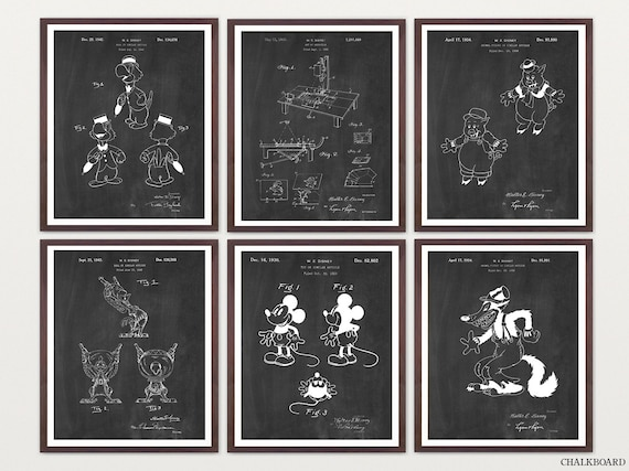 Walt Disney Patent Art - Mickey Mouse Art - Mickey Mouse Patent - Disney Patent - Disney Art - Disney Poster - Animation - Animation Art