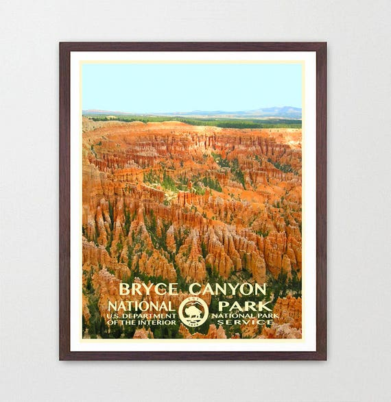 Bryce Canyon National Park Poster, Bryce Canyon Poster, Bryce Canyon National Park Art , National Park Poster, WPA, WPA Poster, WPA Art