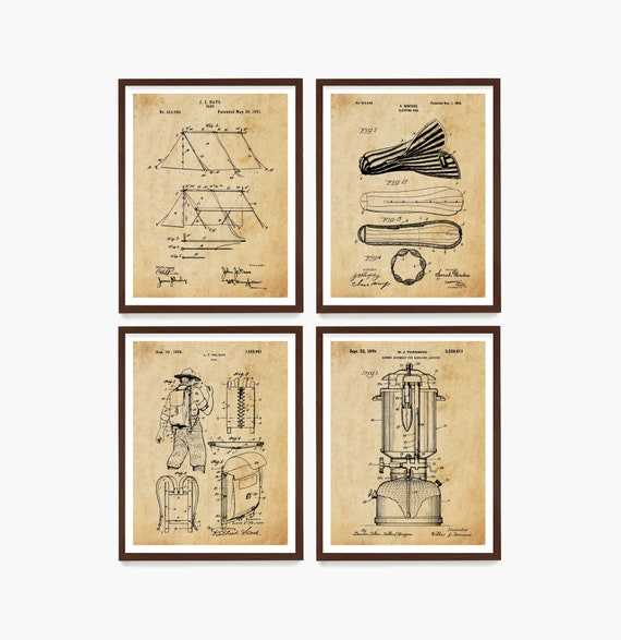 Camping Patent Art, Tent Patent Poster, Camping Wall Art, National Park Art, Hiking Poster, Backpacking Print, Camping Gift, Scout Gift