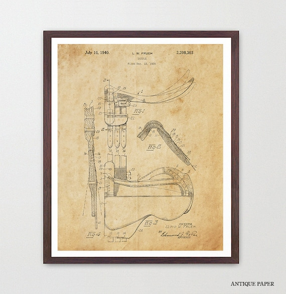Horse Poster - Saddle Patent Print - Equestrian Poster - Horse Art - Vintage Saddle - Horse Decor - Horse Wall Art - Equestrian - Riding