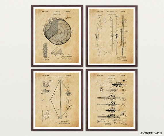 Archery Patent Art - Archery Poster - Archery Art - Archery Wall Art - Bow and Arrow- Compound Bow - Hunting Art - Long Bow - Archery Print