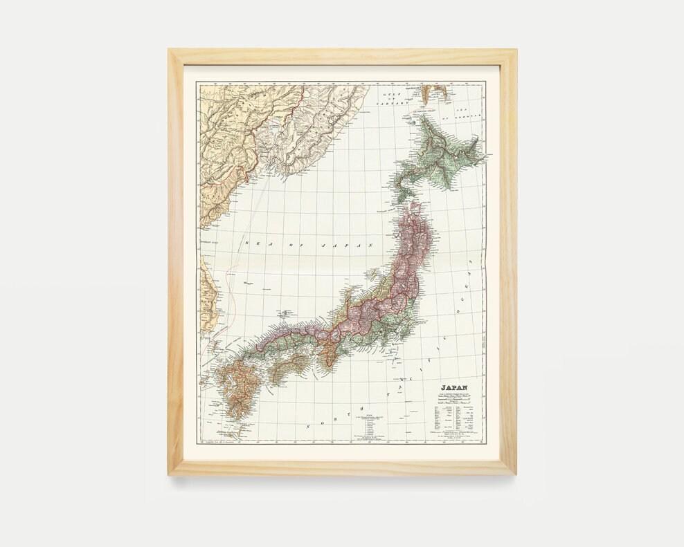 Japan Map Art Map Decor Japanese Decor Japanese Art