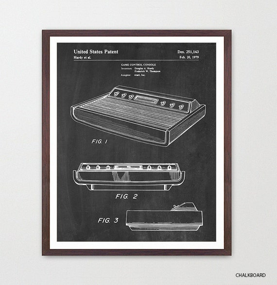 Atari Patent Poster - Video Game Art - Video Game Poster - Atari - Video Game Console - Video Game Wall Art - Atari Game - Boys Room Art