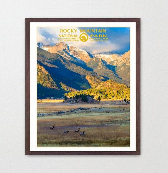 Rocky Mountain National Park - Rocky Mountain National Park Poster - National Park Art - WPA - WPA Poster WPA Art - Rocky Mountains