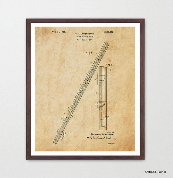 Math Class - Math Patent - Math Poster- Classroom - Math Art - Engineer - Engineering - Mathlete - Math Art - Ruler - Ruler Patent - Canvas