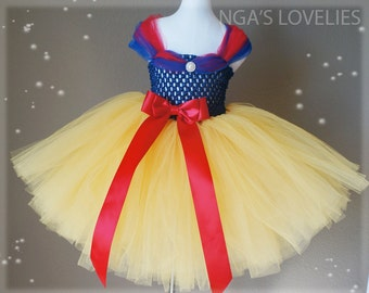 a759a76d7 Disney Inspired Snow White Princess tutu dress- baby tutu dress- flower  tutu dress- pageant tutu dress- pageant dress