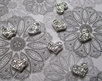 Heart Charm - Memory Lockets- Fits 25 and 30mm Floating Memory Lockets