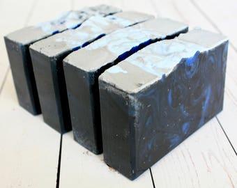 Blue Steel Soap / Cold Process Aqua di Gio Type Men's Soap / Artisan Soap