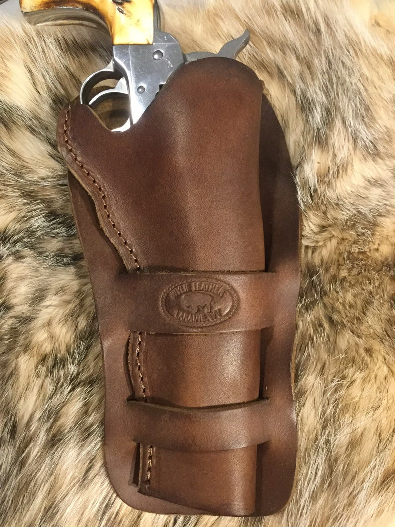 Ruger New Vaquero , Colt Single Action Army and clones, leather 1880's  style western handcrafted single Action Revolver holster 5 1/2