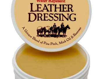 Montana Pitch Blend Leather Dressing, 4 ounce container, all natural leather conditioner .
