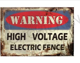 Danger High Voltage Vintage Retro Reproduction Gift 8x12 Metal Sign 108120067016