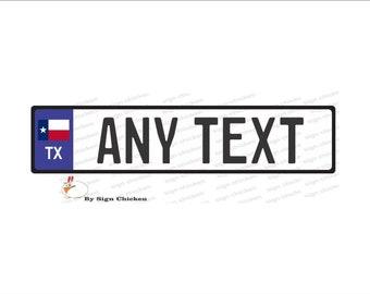 ANY TEXT PUERTO RICO FLAG TRD  EURO STYLE  TAG BMW  European license plate